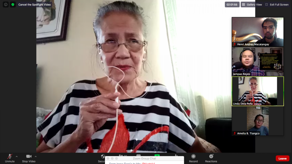 """Participant Linda Dela Pena shares her experiences. """"Ang pagmamalasakit sa kapwa ay paraan ng pagiging pag-ibig ng Diyos para sa iba, at para na rin sa sarili."""""""